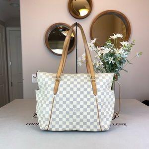 Louis Vuitton Damier Azur Totally PM Shoulder Bag Totes